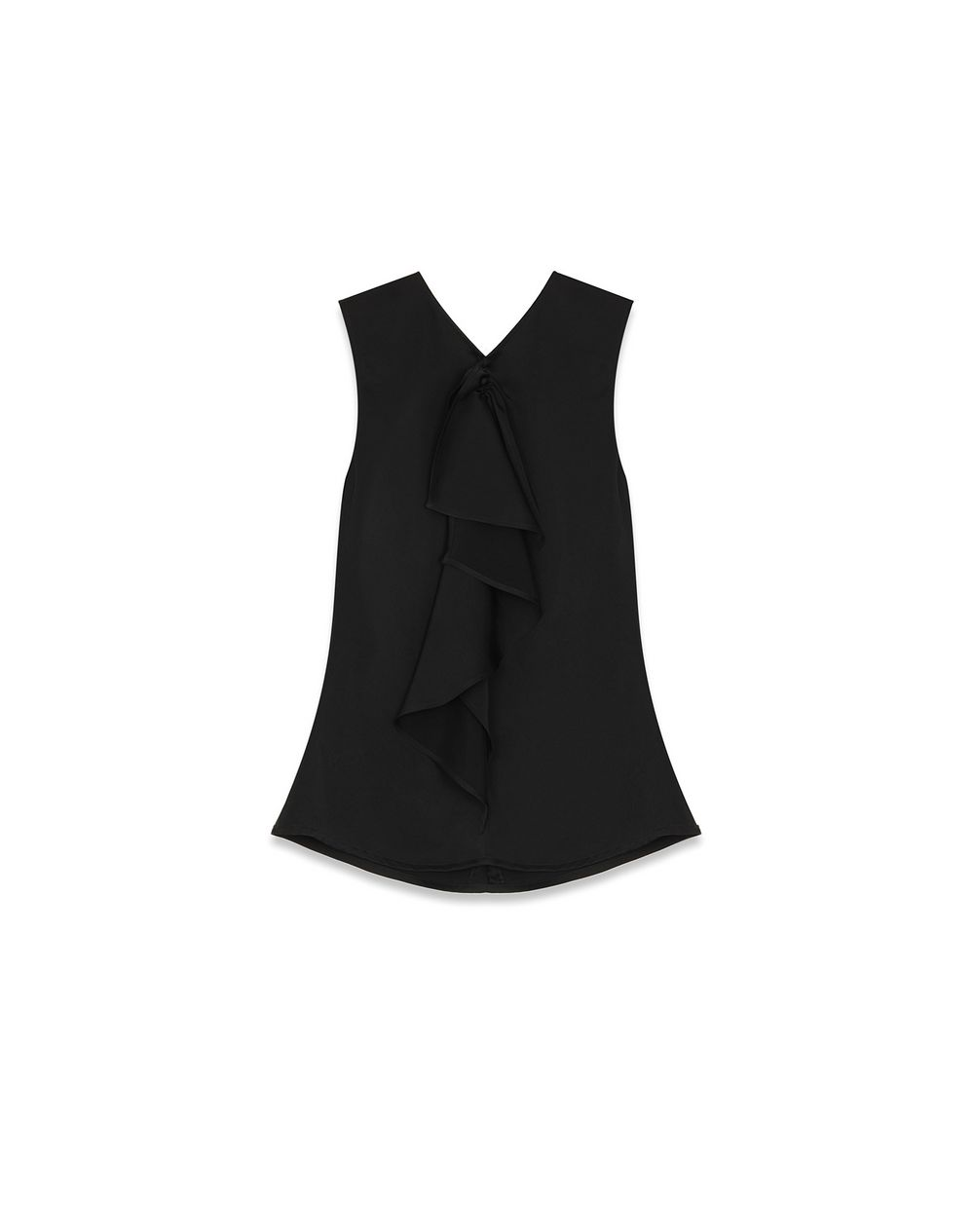 SLEEVELESS BLOUSE WITH RUFFLE INSET - Lanvin