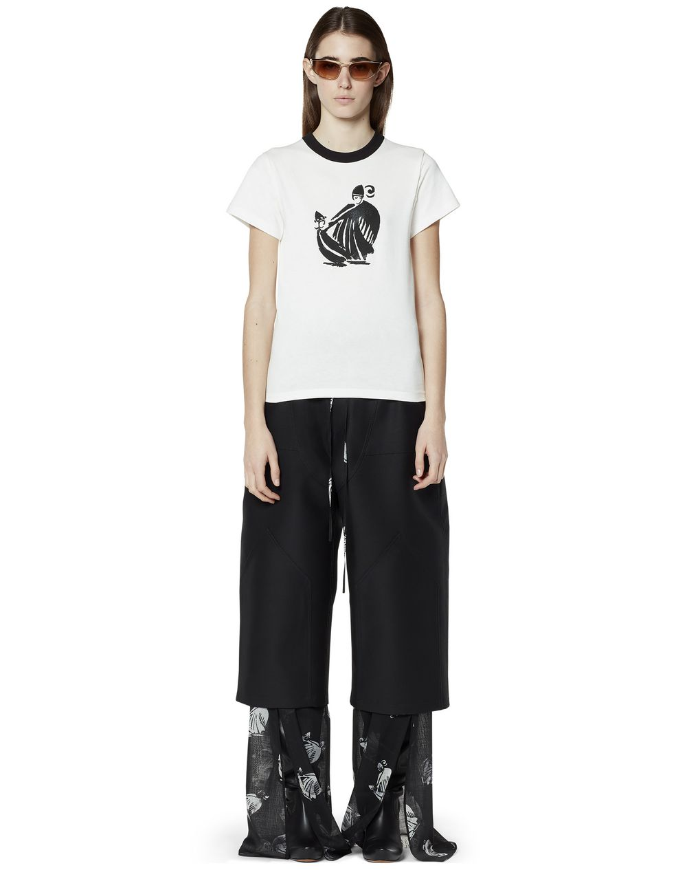 PRINTED T-SHIRT IN COTTON - Lanvin
