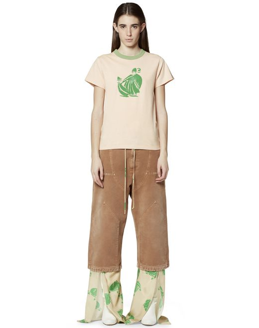 PRINTED COTTON T-SHIRT - Lanvin