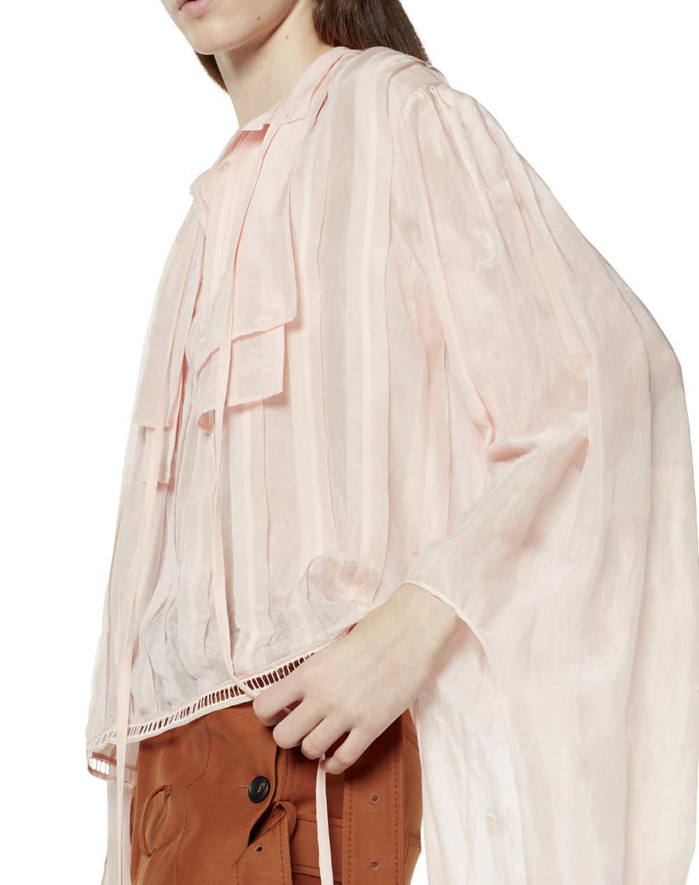 BLOUSE IN COTTON AND SILK - Lanvin