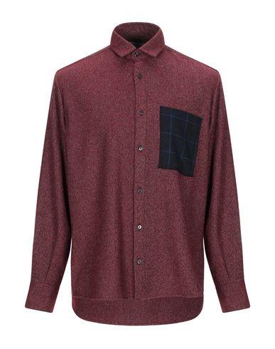 Фото - Pубашка от CORELATE кирпично-красного цвета