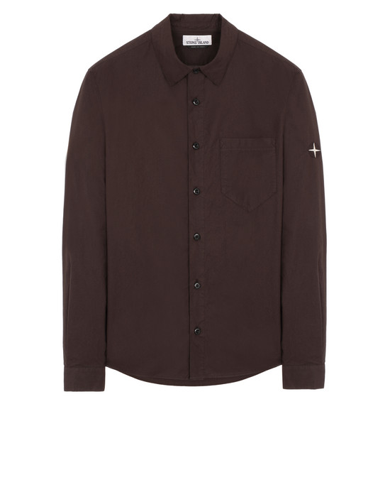 STONE ISLAND 12501 Long sleeve shirt Man Dark Brown