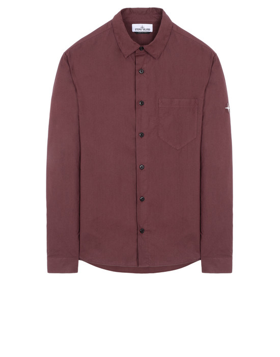STONE ISLAND 12501 Long sleeve shirt Man Dark Burgundy