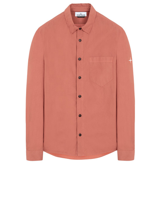 STONE ISLAND 12501 Long sleeve shirt Man Rust