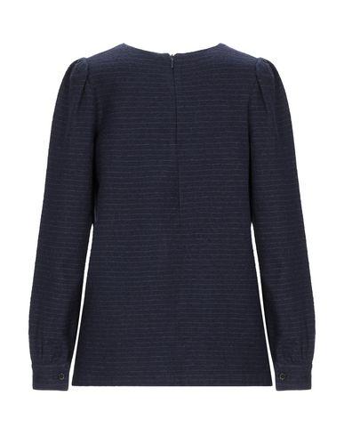Фото 2 - Женскую блузку DOUUOD темно-синего цвета