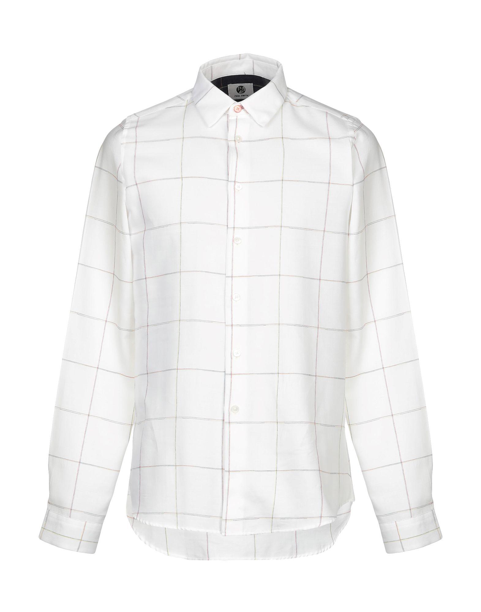 《セール開催中》PS PAUL SMITH メンズ シャツ ホワイト M コットン 100%