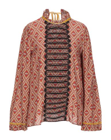 Фото - Женскую блузку SE-TA Rosy Iacovone коричневого цвета