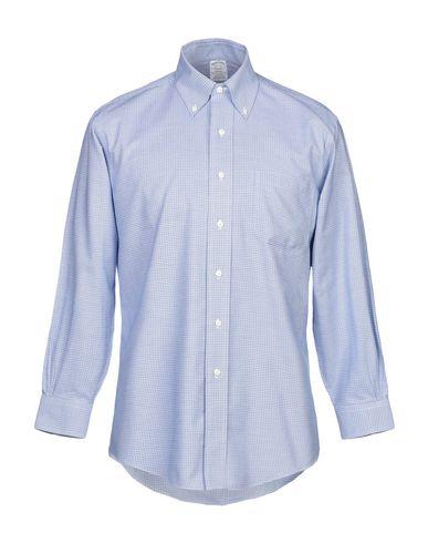 Фото - Pубашка от BROOKS BROTHERS небесно-голубого цвета