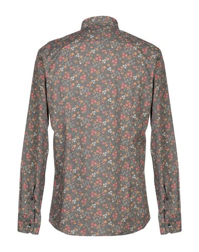 Фото 2 - Pубашка цвета хаки