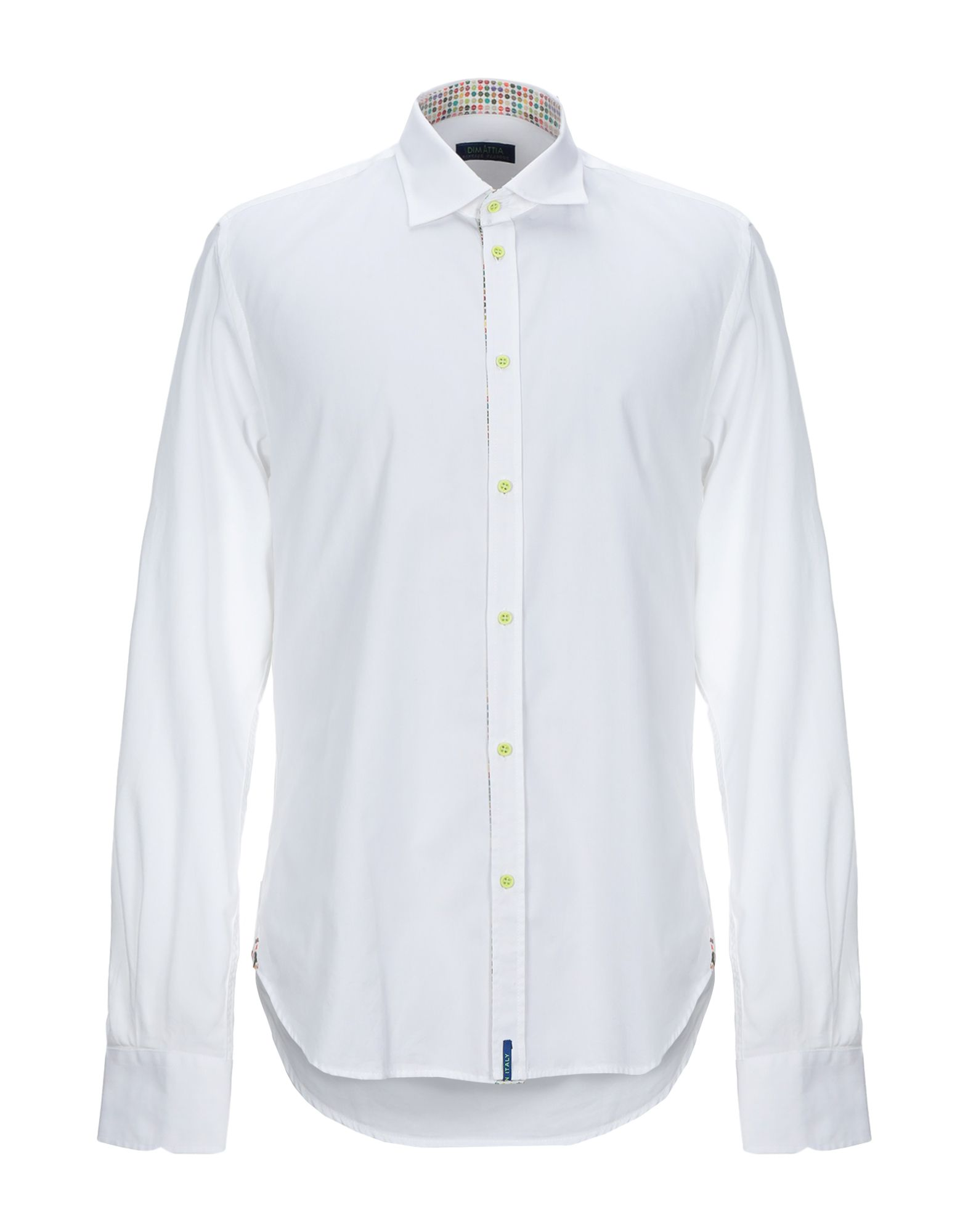《期間限定 セール開催中》DIMATTIA メンズ シャツ ホワイト 44 コットン 100%