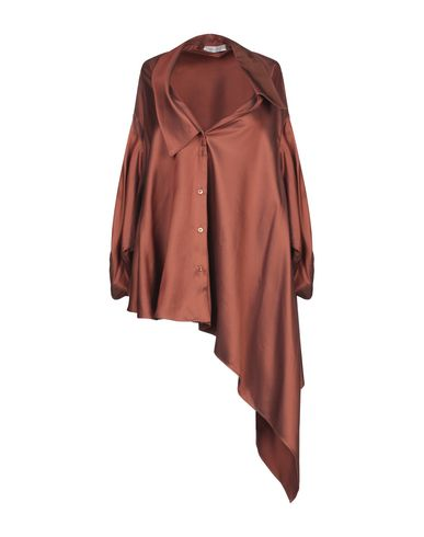 Фото - Pубашка коричневого цвета
