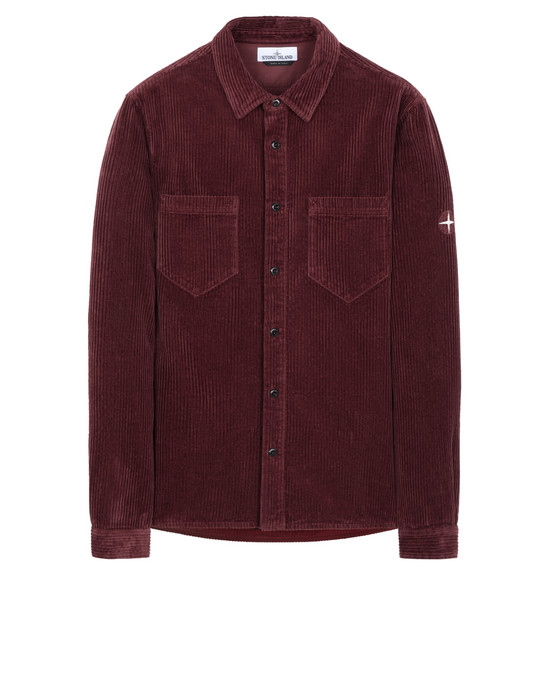 STONE ISLAND 11209  Long sleeve shirt Man Dark Burgundy