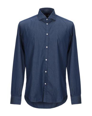 Фото - Pубашка темно-синего цвета