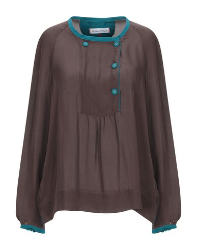 Фото - Женскую блузку LE SARTE PETTEGOLE темно-коричневого цвета