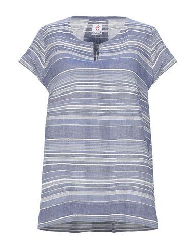Фото - Женскую блузку MOSCA синего цвета