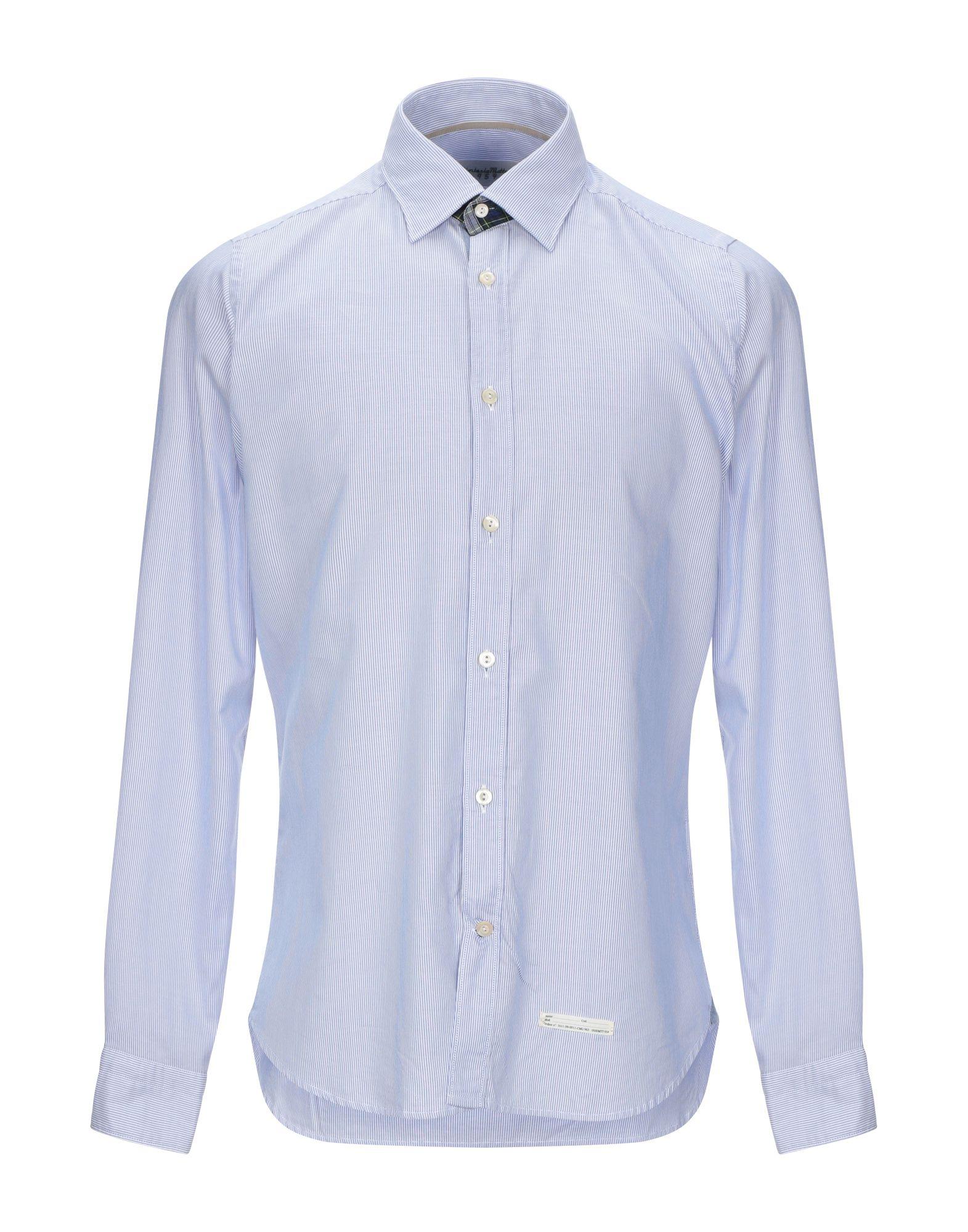 《セール開催中》TINTORIA MATTEI 954 メンズ シャツ ブルー 42 コットン 100%
