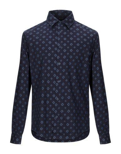 Фото - Джинсовая рубашка темно-синего цвета