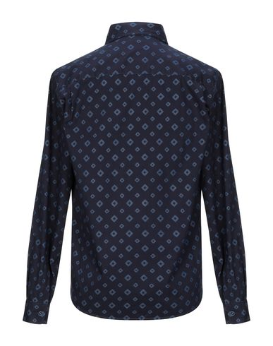 Фото 2 - Джинсовая рубашка темно-синего цвета