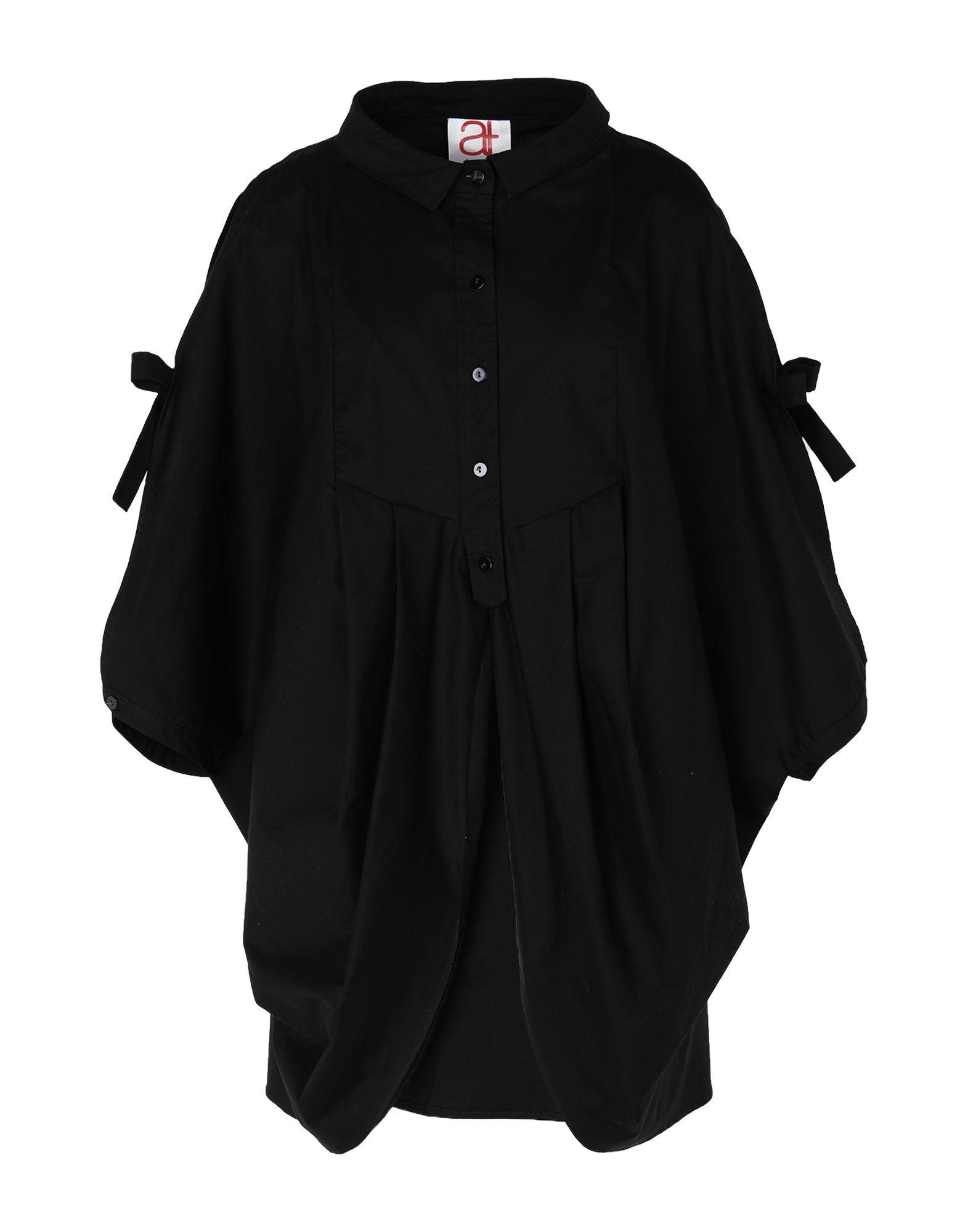 《セール開催中》ANDREA TURCHI レディース シャツ ブラック 40 コットン 100%