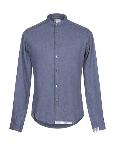 Фото - Pубашка от JACOPO C. грифельно-синего цвета