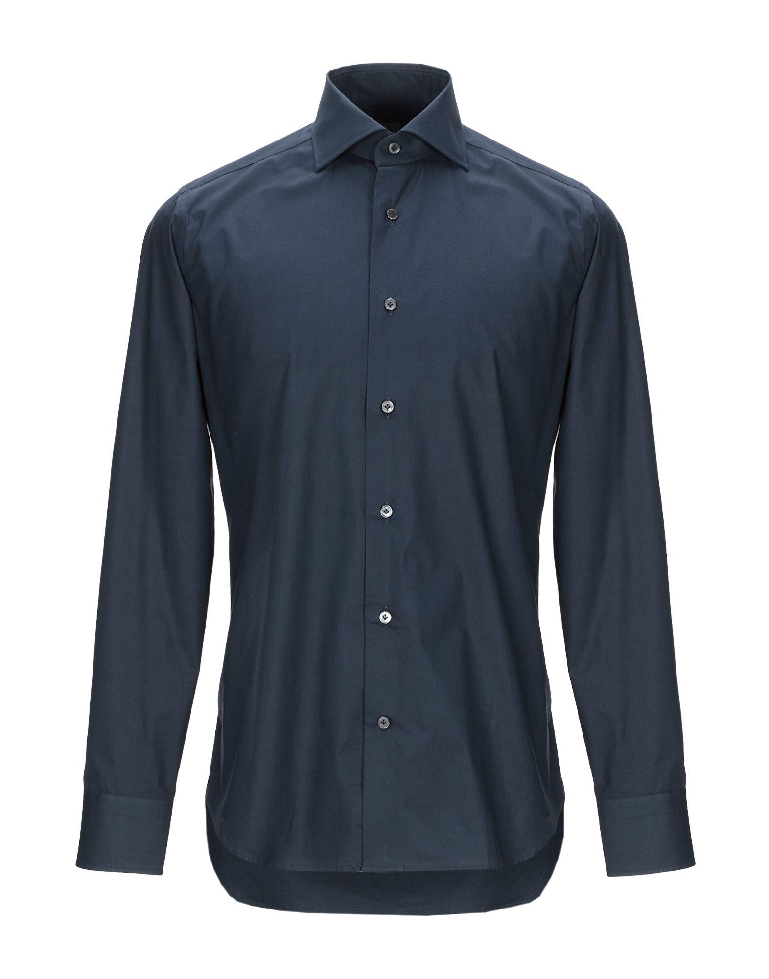 《期間限定セール開催中!》24 TAR Milano メンズ シャツ ダークブルー 39 コットン 97% / ポリウレタン 3%