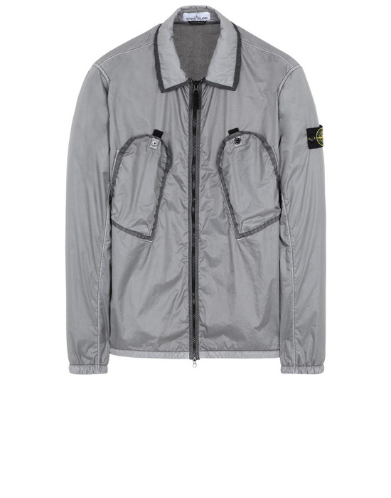 STONE ISLAND 11435 LAMY FLOCK  OVER SHIRT Man Dark Grey