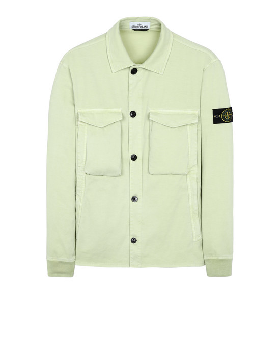 STONE ISLAND 13002 'OLD' DYE TREATMENT   OVER SHIRT Man Pistachio Green