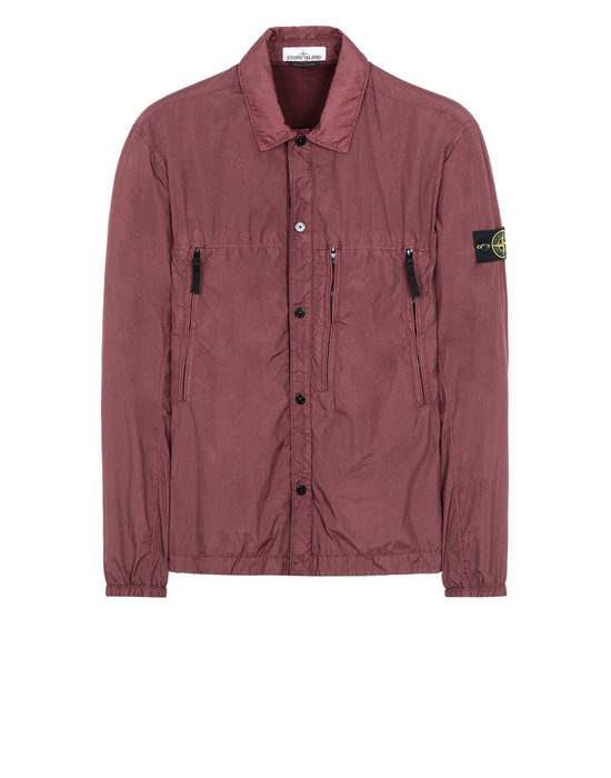 STONE ISLAND 10323 GARMENT DYED CRINKLE REPS NY + RETE ISOLANTE-TC  OVER SHIRT Man Dark Burgundy