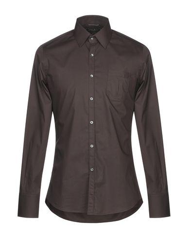 Купить Pубашка темно-коричневого цвета