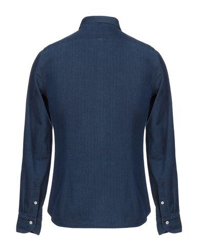 Фото 2 - Pубашка от TINTORIA MATTEI 954 синего цвета