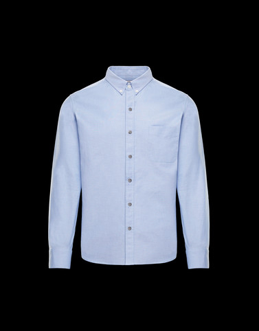 SHIRT Sky blue Category Long-sleeved shirts Man