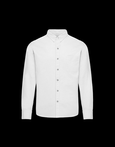 SHIRT White Category Long-sleeved shirts Man