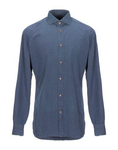 Купить Pубашка от GIAMPAOLO темно-синего цвета