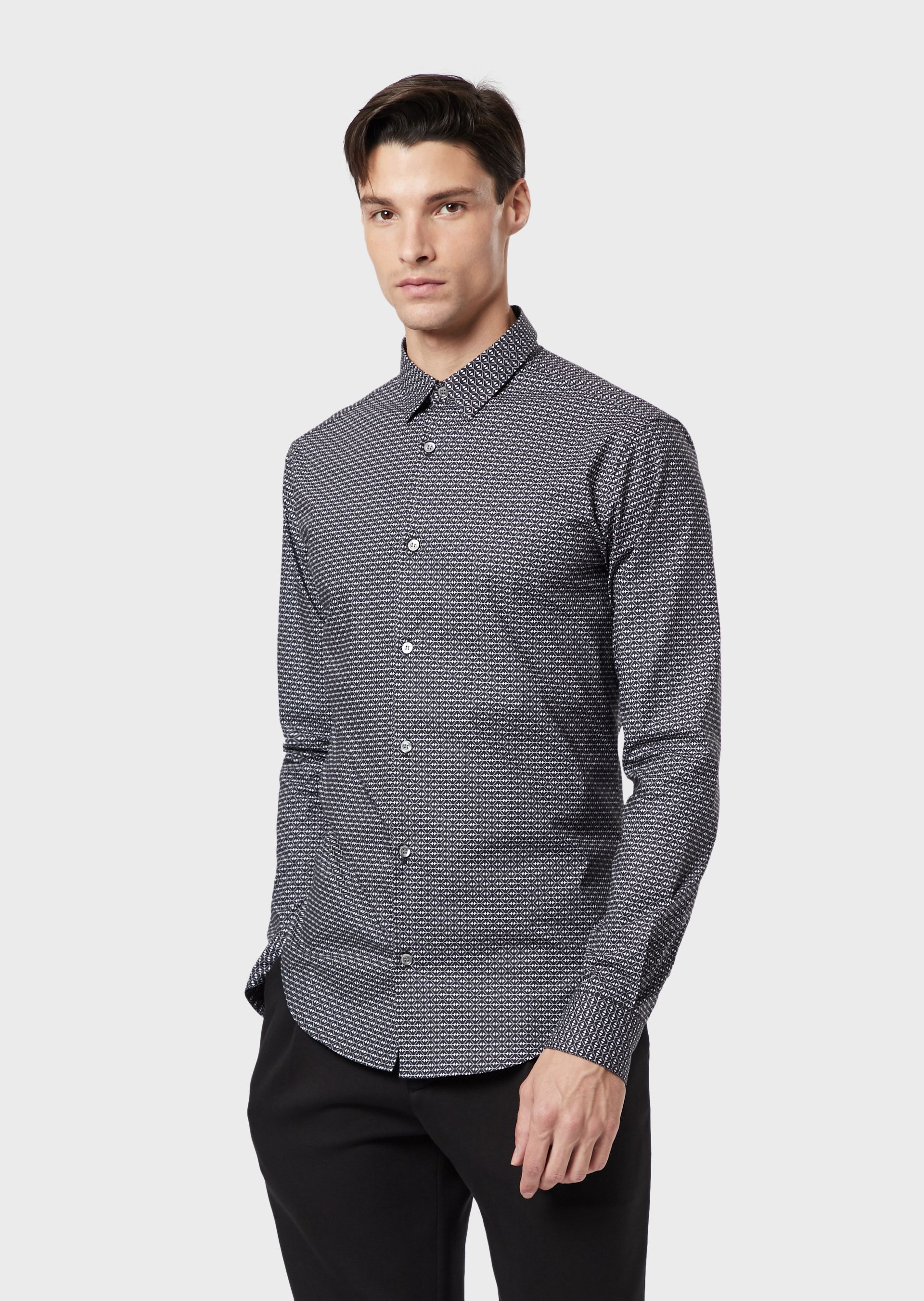 Emporio Armani Casual Shirts - Item 38867881 In Black