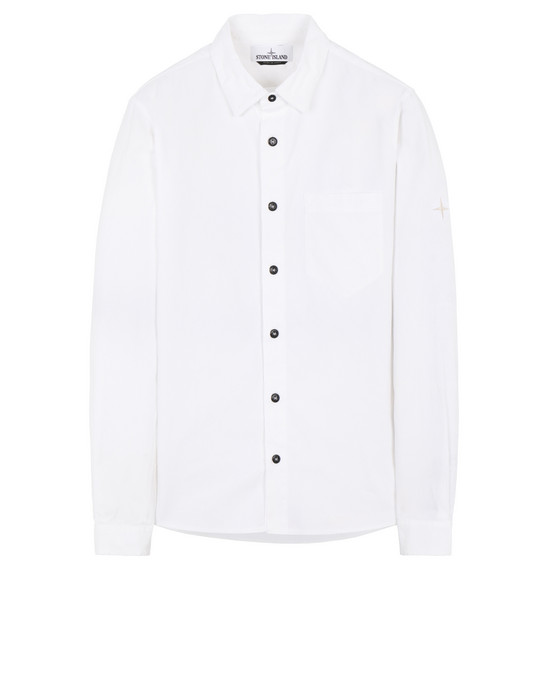 STONE ISLAND 12505 Long sleeve shirt Man White