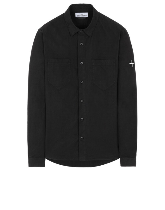STONE ISLAND 11206 Long sleeve shirt Man Black