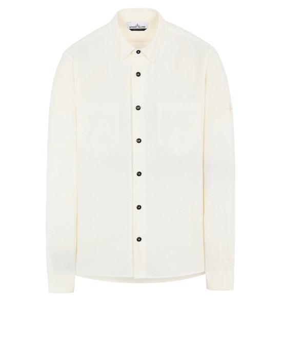 STONE ISLAND 11206 Long sleeve shirt Man Ivory