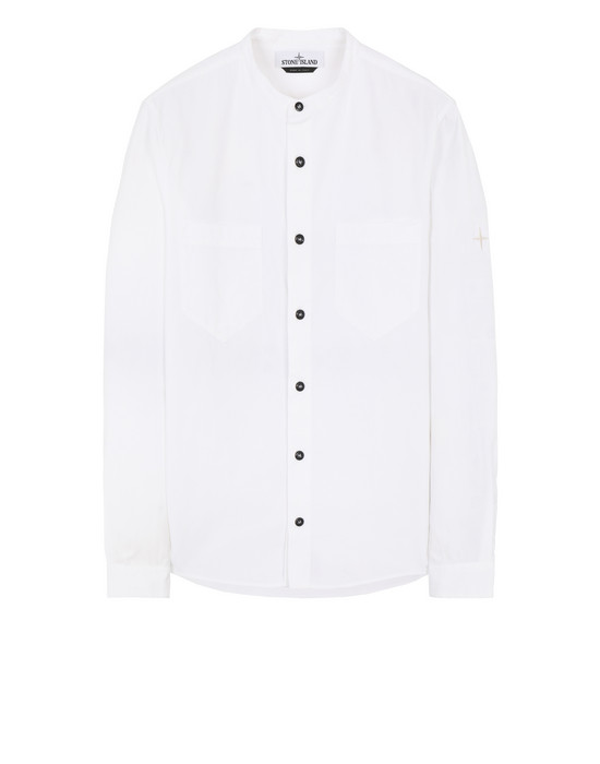 STONE ISLAND 11305 Long sleeve shirt Man White