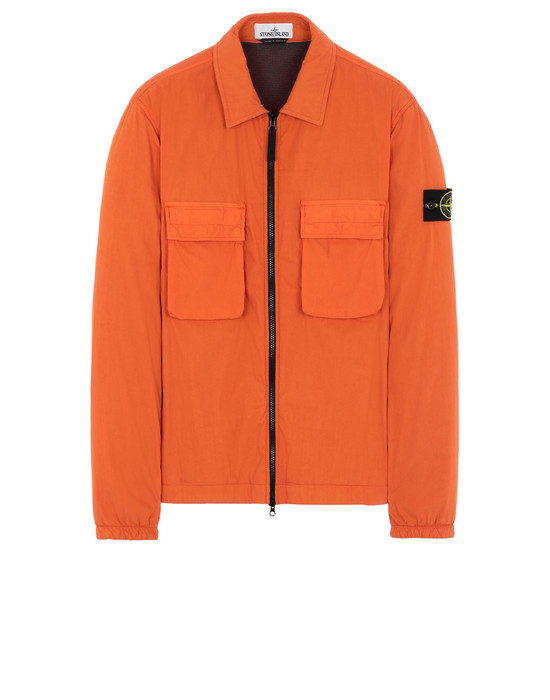 STONE ISLAND 10904  OVER SHIRT Man Orange