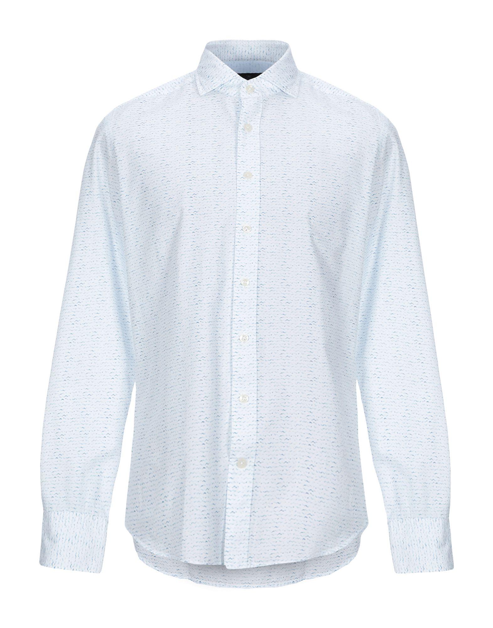 《セール開催中》HACKETT メンズ シャツ ブルー M コットン 100%