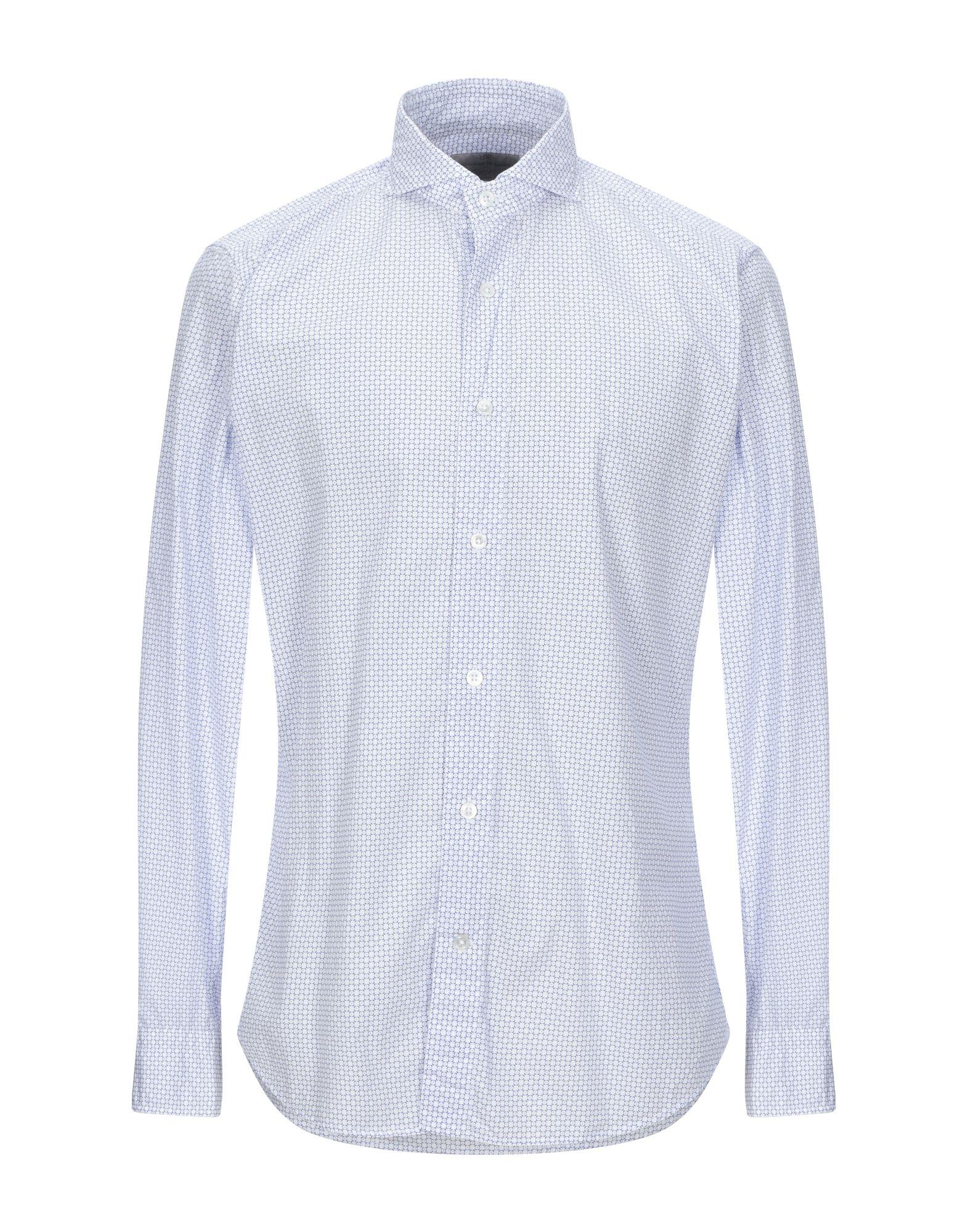 《セール開催中》LABORATORIO DEL CARMINE メンズ シャツ ホワイト 41 コットン 100%