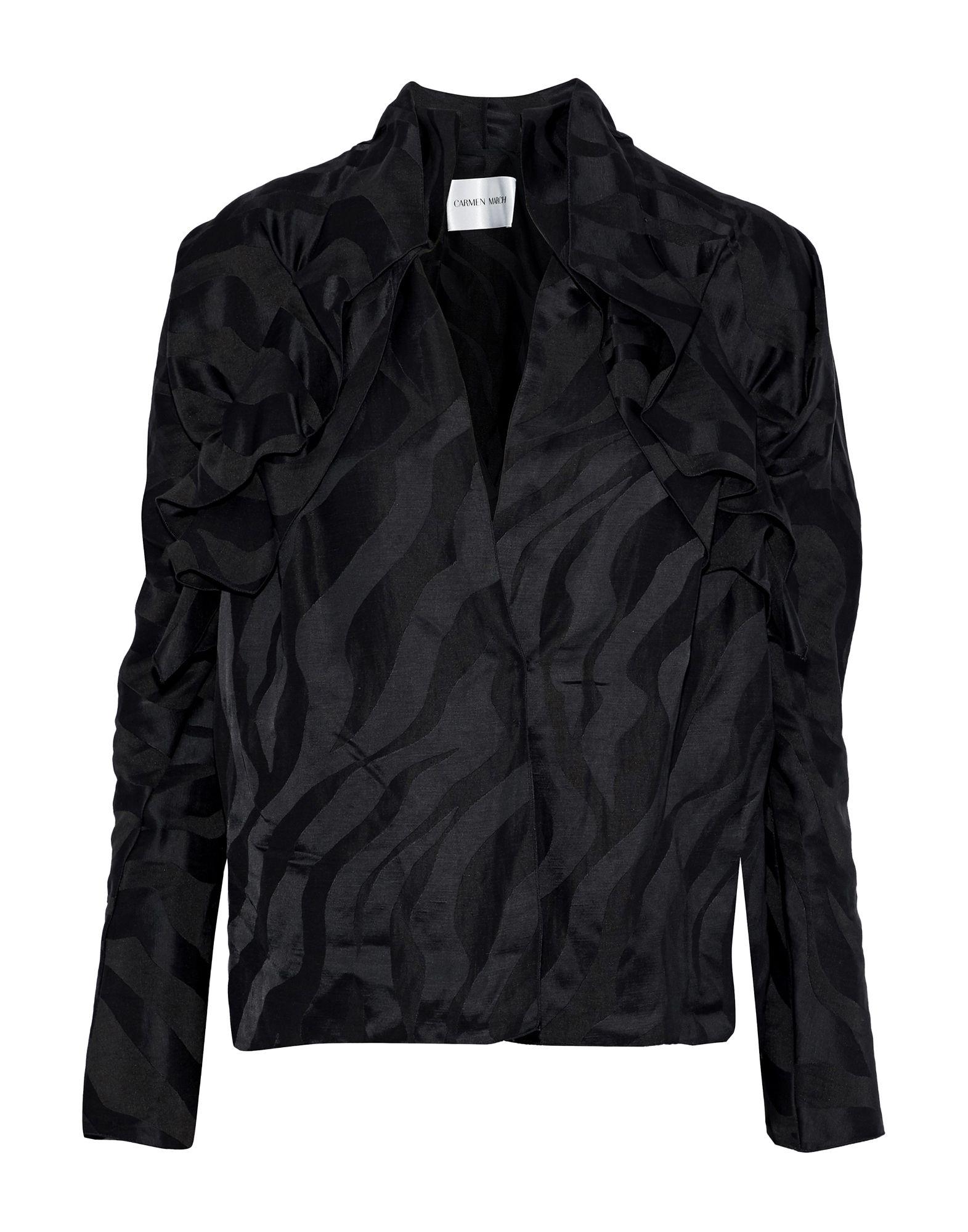 《セール開催中》CARMEN MARCH レディース シャツ ブラック 34 麻 56% / レーヨン 44%