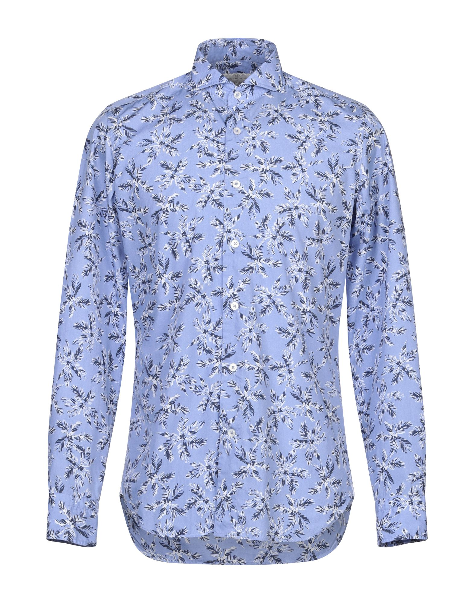 《セール開催中》LABORATORIO DEL CARMINE メンズ シャツ アジュールブルー 39 コットン 100%