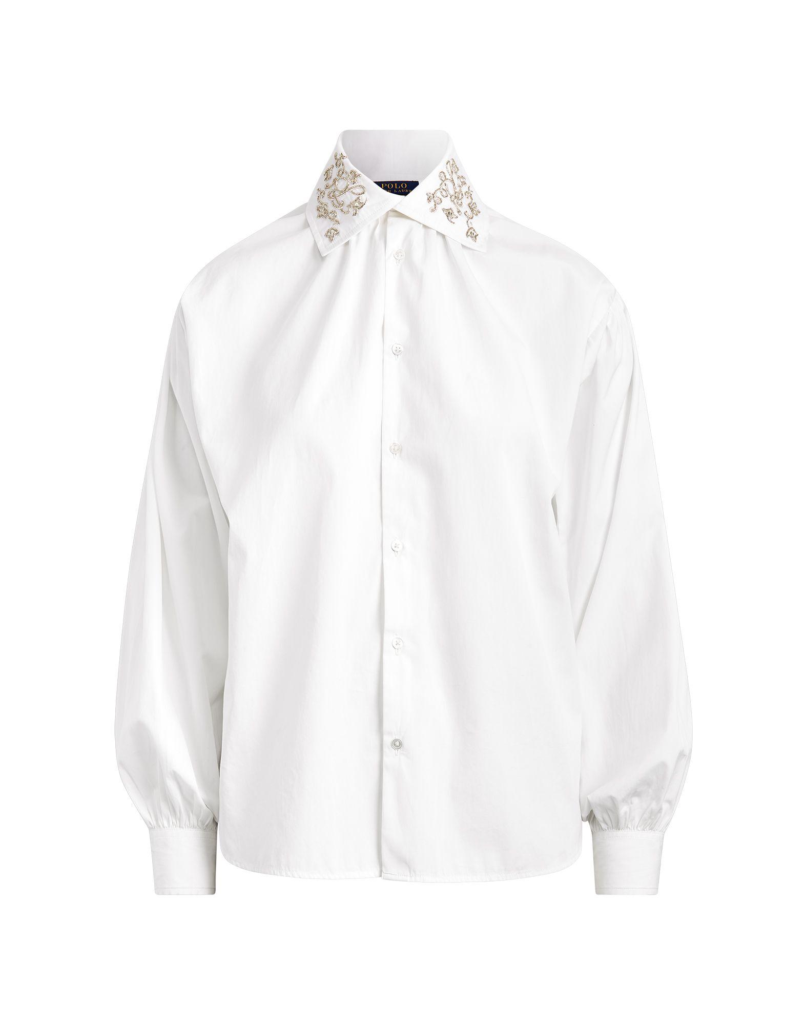 《セール開催中》POLO RALPH LAUREN レディース シャツ ホワイト 2 コットン 100% COTTON BROADCLOTH SHIRT