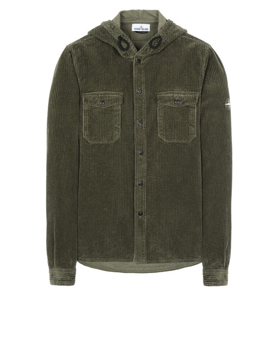 STONE ISLAND 10209 Long sleeve shirt Man Olive Green