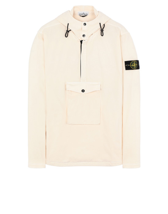 "STONE ISLAND 10702""OLD""DYE TREATMENT OVER SHIRT Man Ivory"
