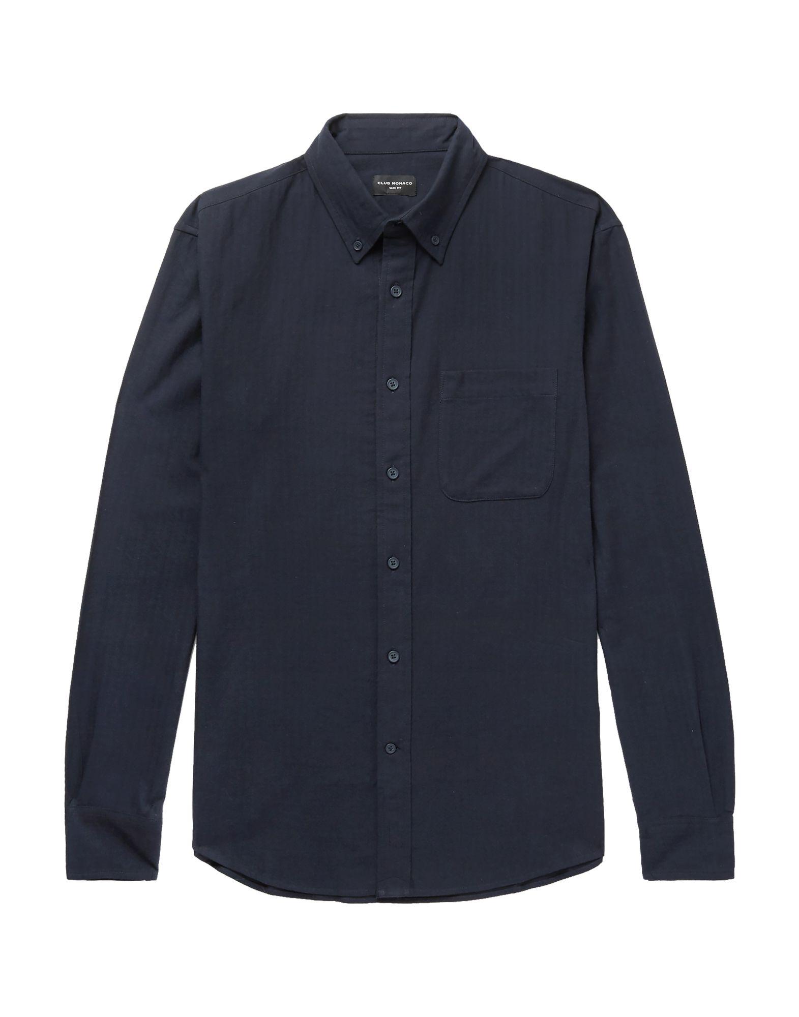 《セール開催中》CLUB MONACO メンズ シャツ ダークブルー XS コットン 100%