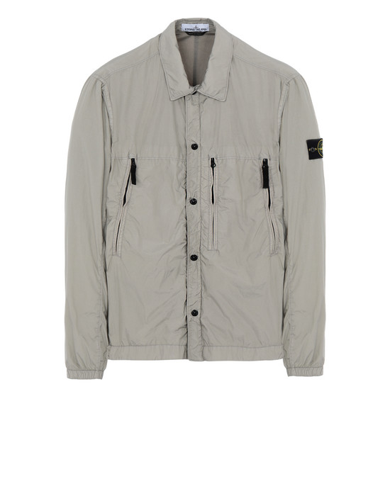 OVER SHIRT 10323 GARMENT DYED CRINKLE REPS NY + RETE ISOLANTE-TC  STONE ISLAND - 0