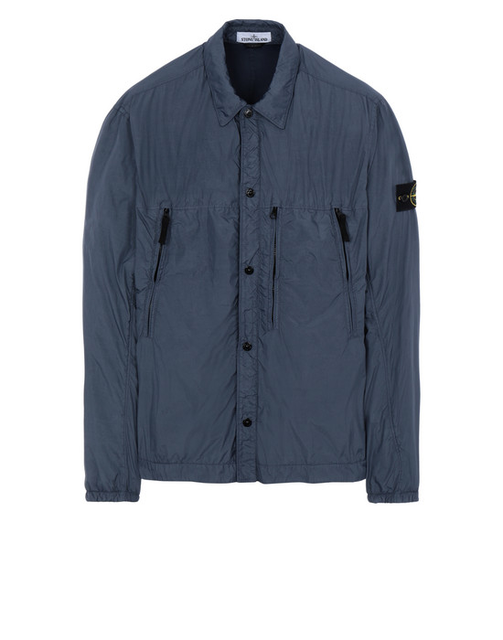 STONE ISLAND 10323 GARMENT DYED CRINKLE REPS NY + RETE ISOLANTE-TC OVER SHIRT Man Avio Blue