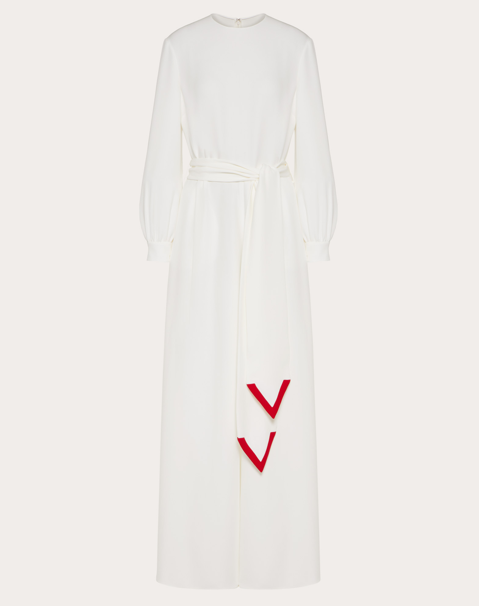 Cady Couture Jumpsuit with V Intarsia